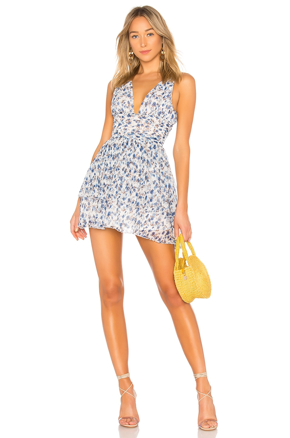 MAJORELLE Dora Mini Dress in Misty Blue