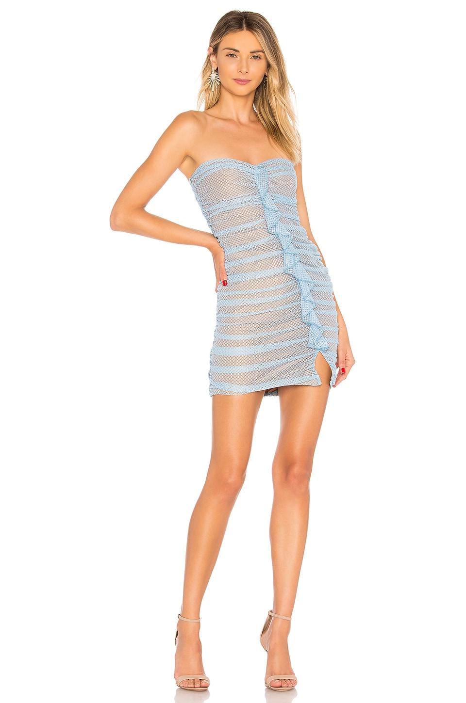 MAJORELLE Bradley Mini Dress in Baby Blue