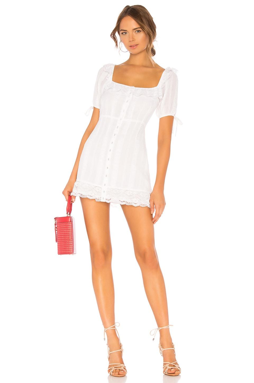 MAJORELLE Chrisalee Mini Dress in White