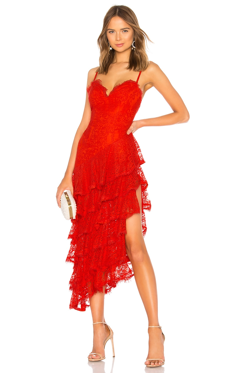 MAJORELLE Oracle Gown in Red