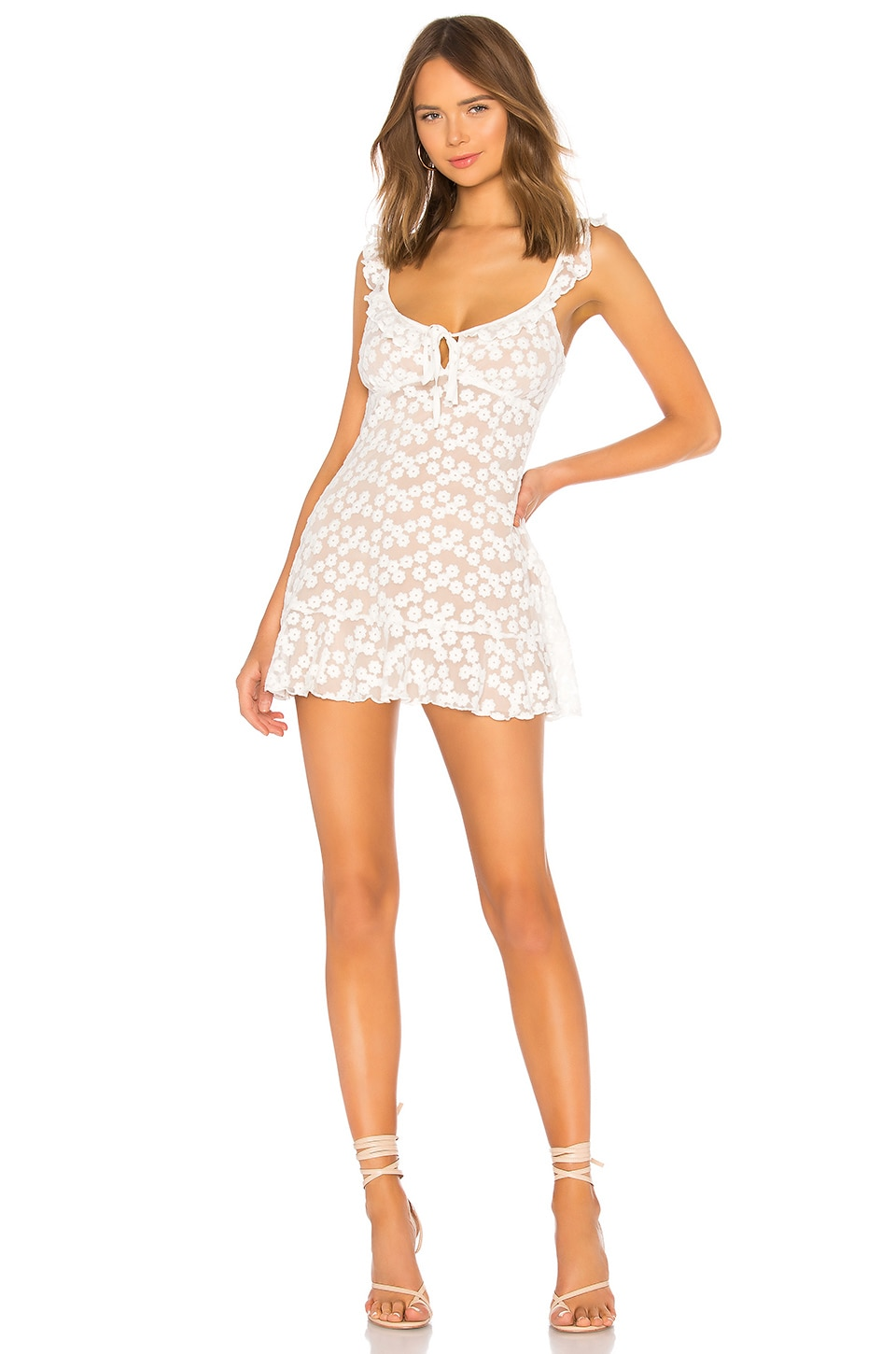 MAJORELLE Sunbeams Dress in White