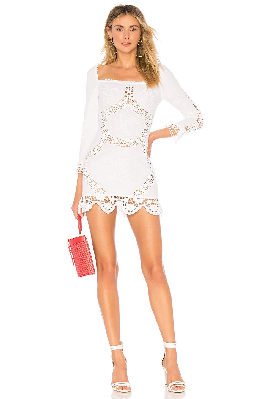 MAJORELLE Charolette Mini Dress in White