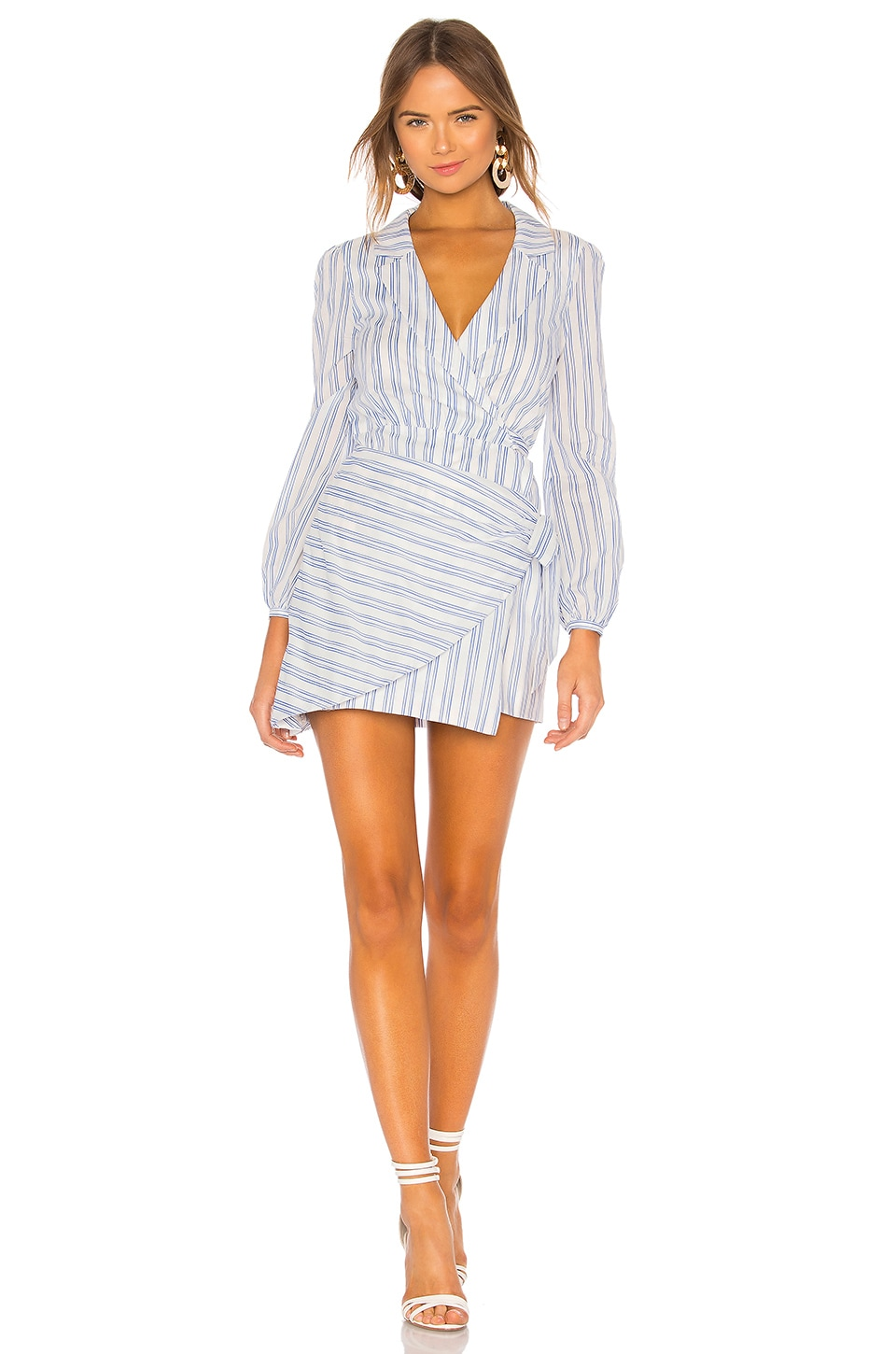 MAJORELLE Miranda Mini Dress in Blue Picnic