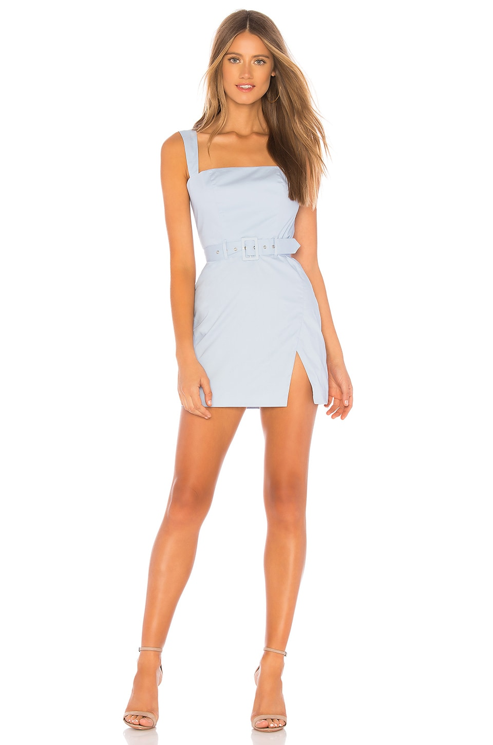 MAJORELLE Carolyn Mini Dress in Baby Blue