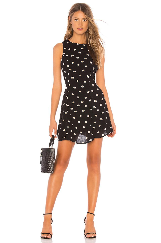MAJORELLE Lilian Mini Dress in Black Summer Night