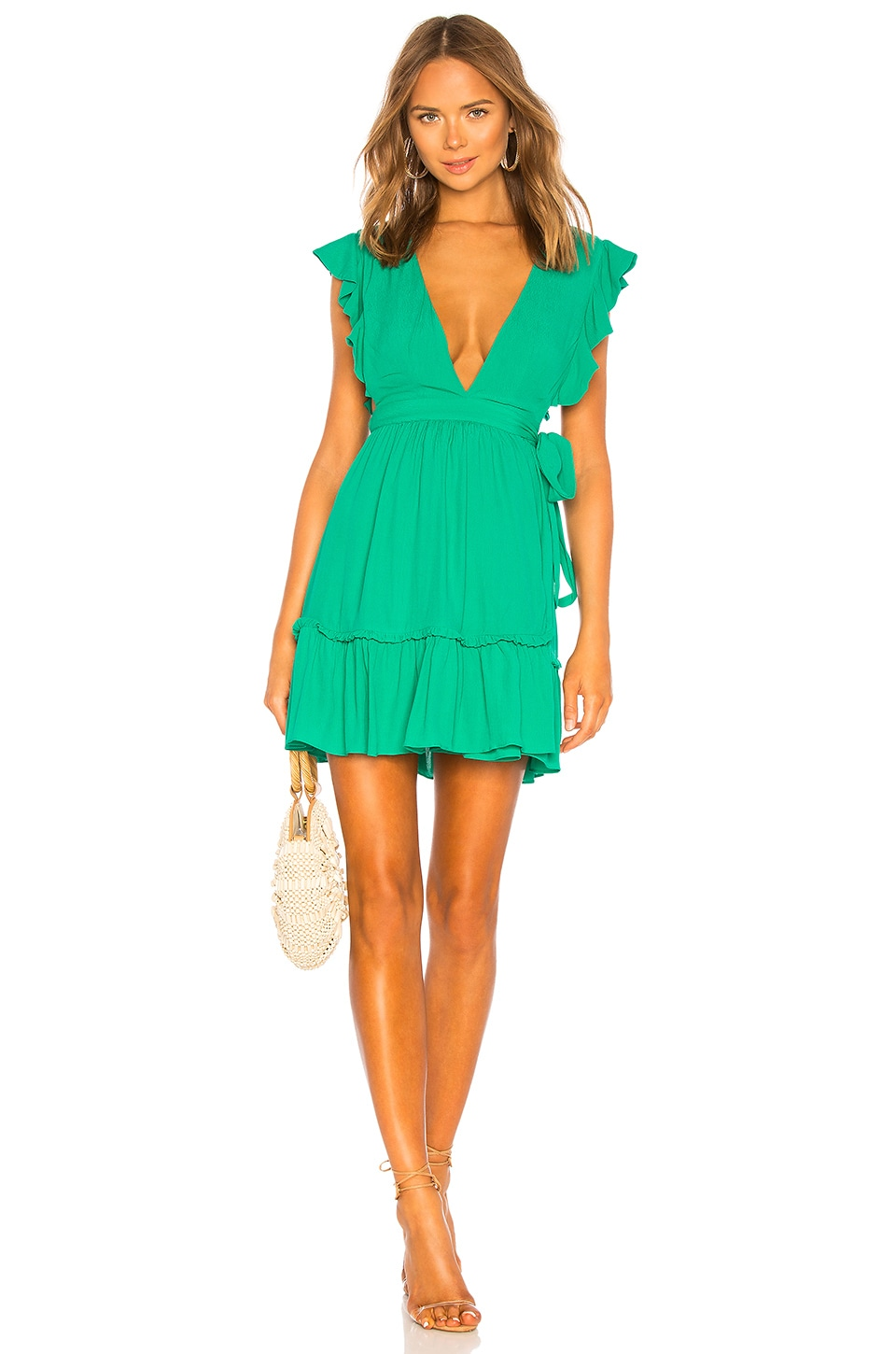 MAJORELLE Misty Dress in Kelly Green