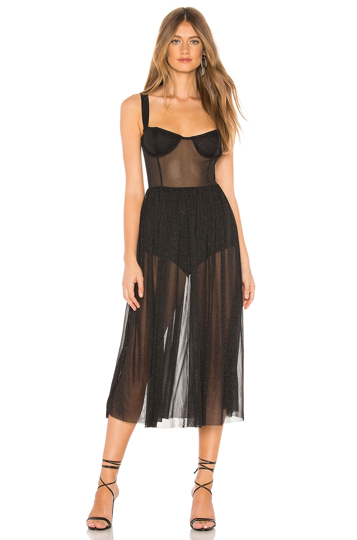 MAJORELLE Rina Dress in Black