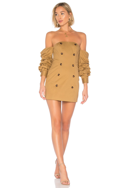 MAJORELLE Malena Mini Dress in Camel