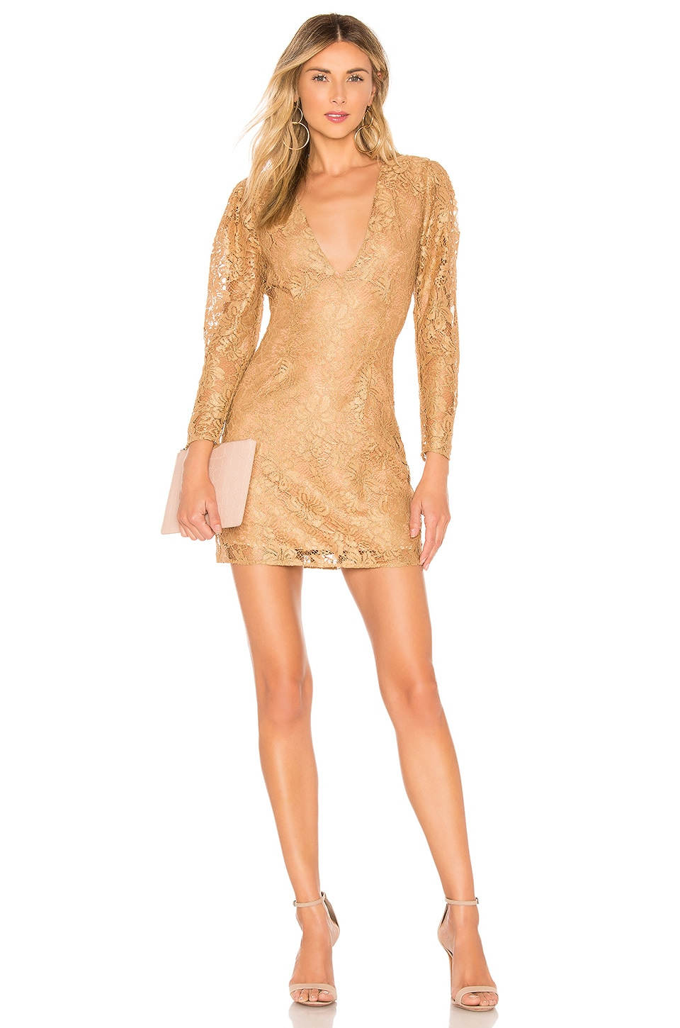 MAJORELLE Bettina Mini Dress in Golden Luxe