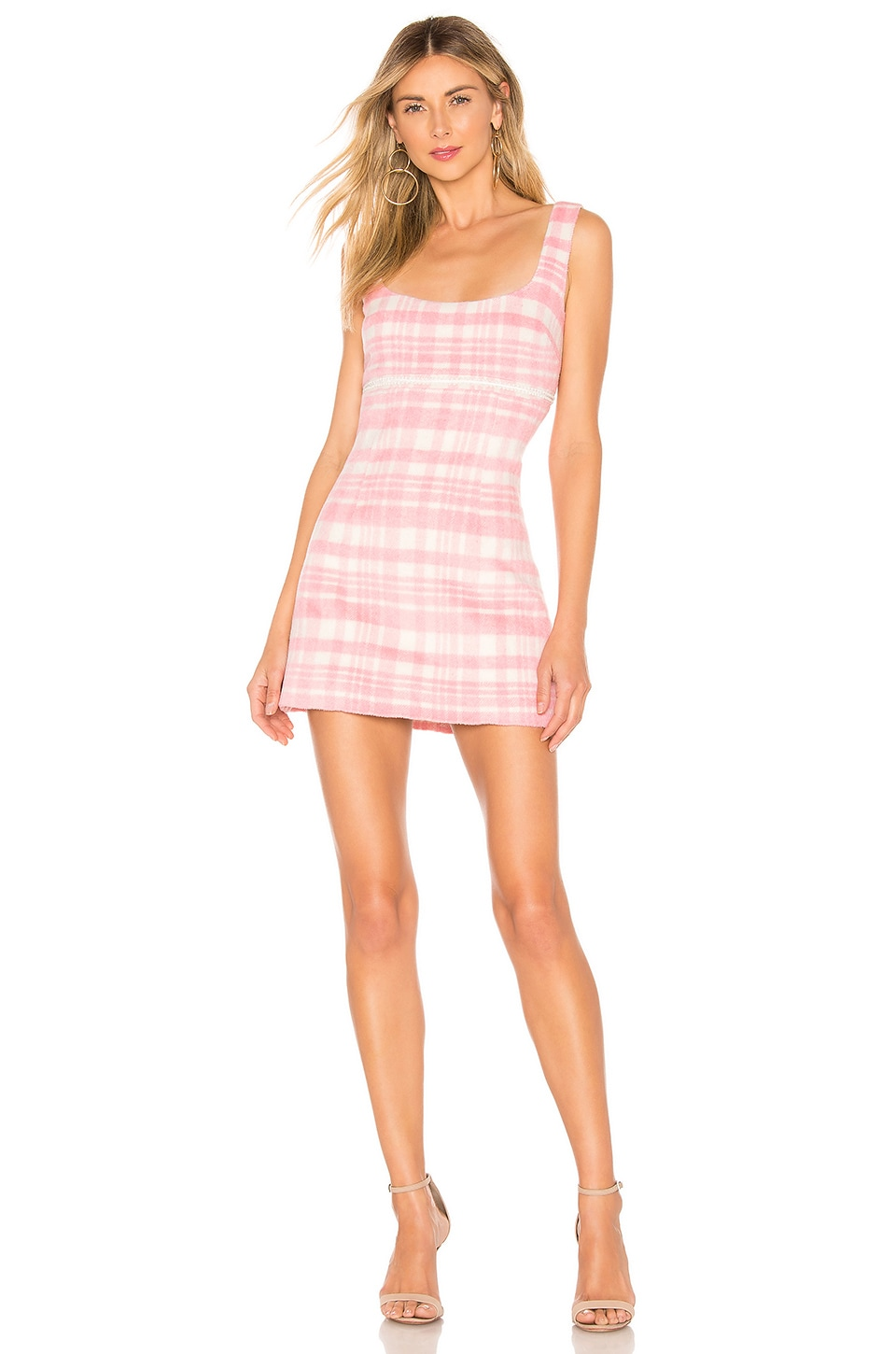 MAJORELLE Liliana Mini Dress in Pink Cloud