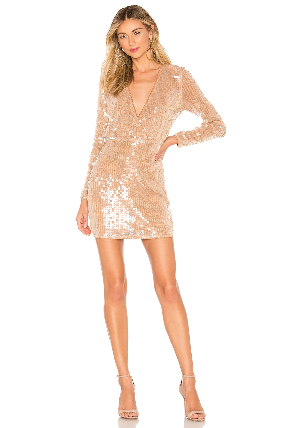 MAJORELLE Claudina Mini Dress in Blush Nude