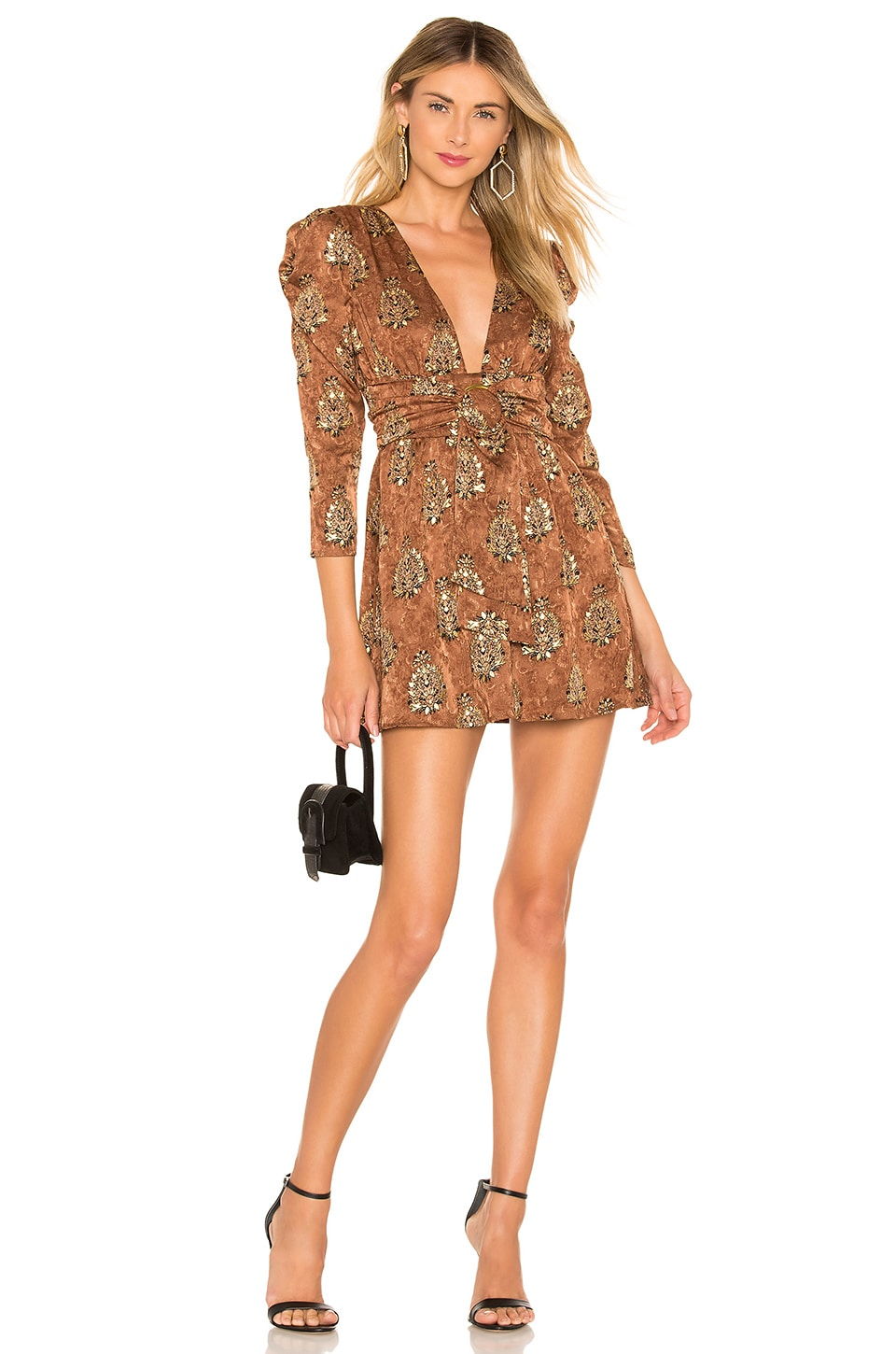 MAJORELLE Violeta Mini Dress in Arabian Copper
