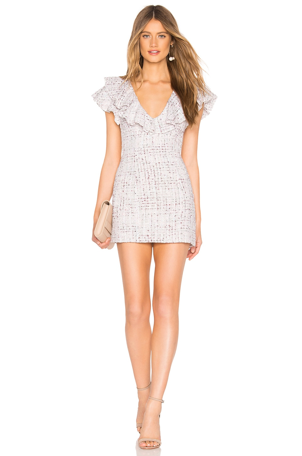 MAJORELLE Marlow Mini Dress in Pastel Multi