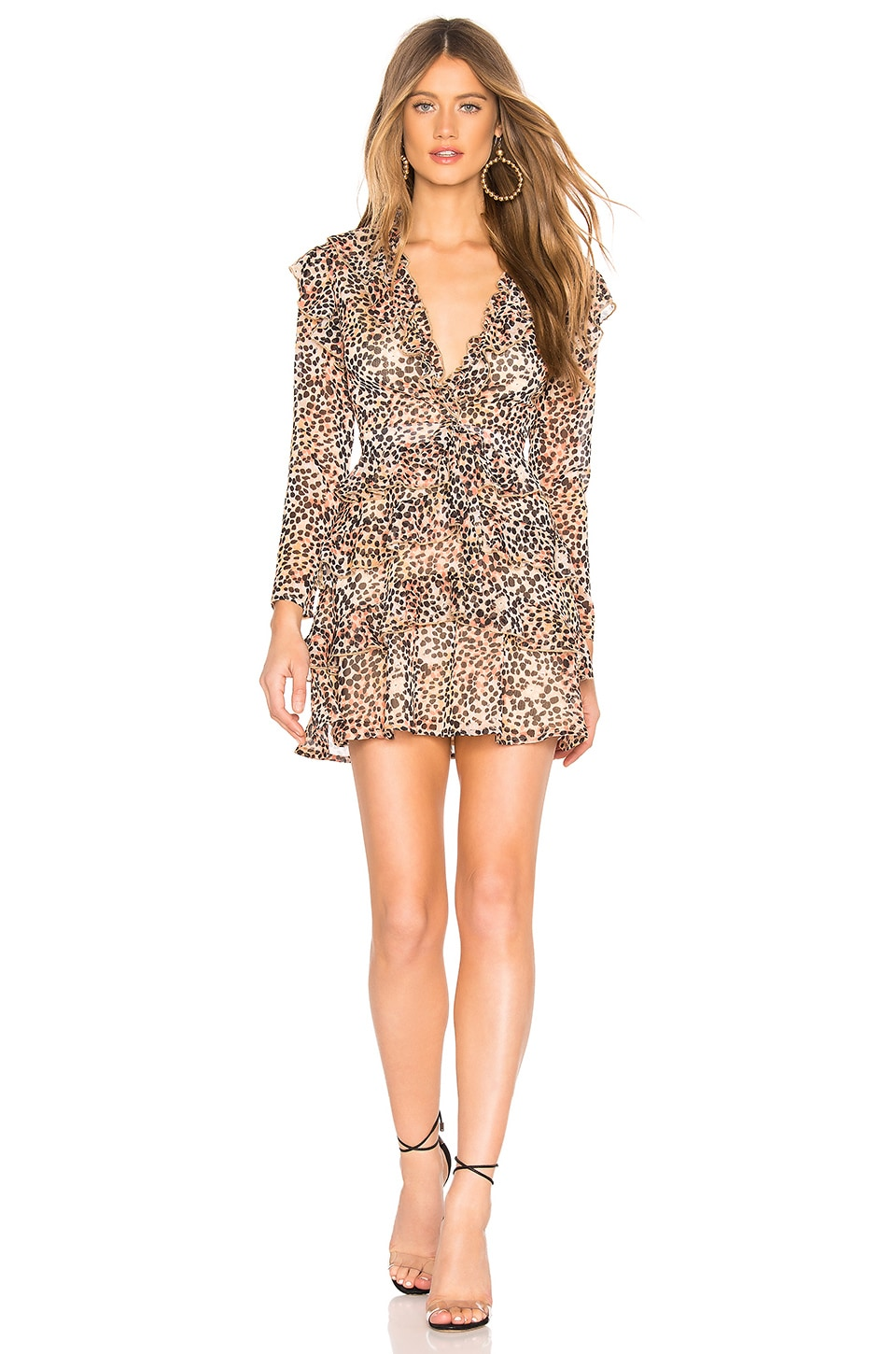 MAJORELLE Magdelina Mini Dress in Spotted Multi