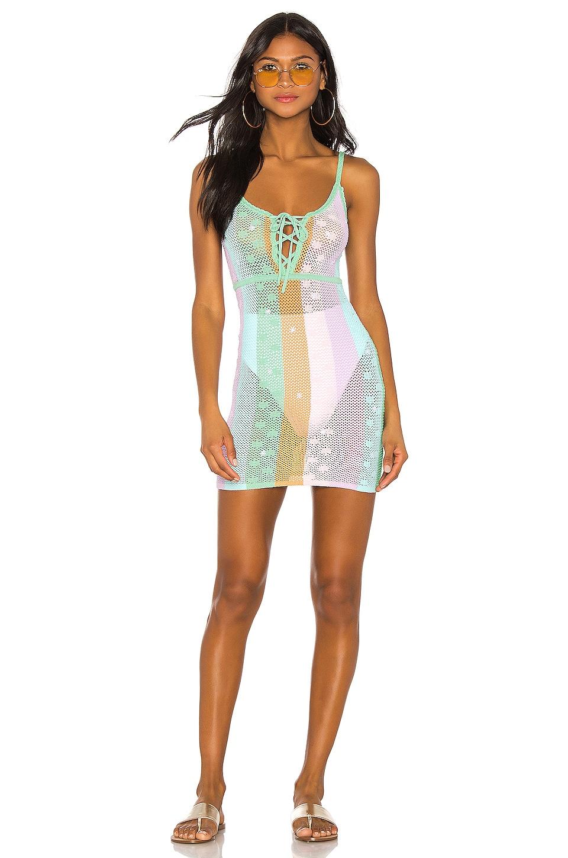 MAJORELLE Freely Dress in Pastel Rainbow