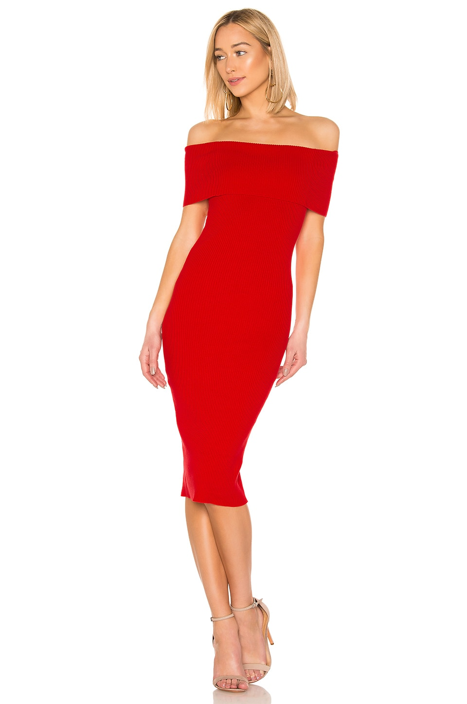 MAJORELLE Lulu Dress in Red