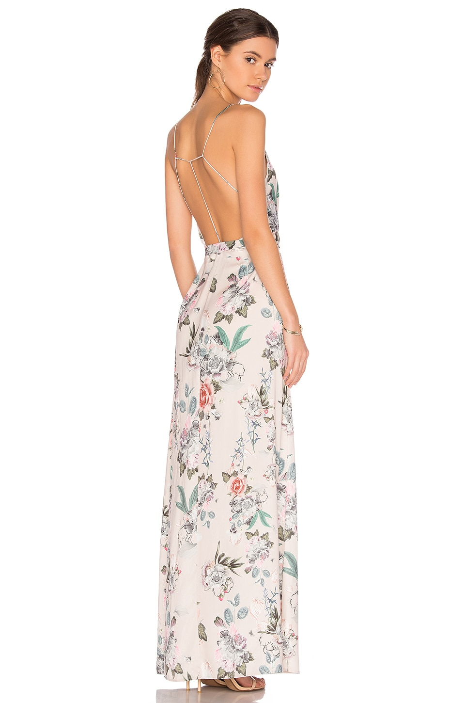 MAJORELLE Cubano Maxi Dress in Multi Flora