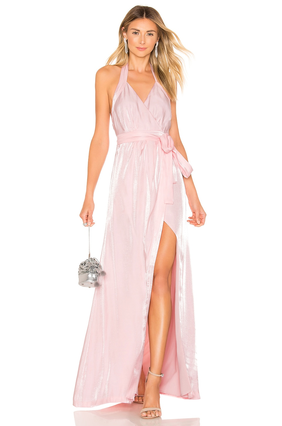 MAJORELLE Simmons Gown in Light Pink