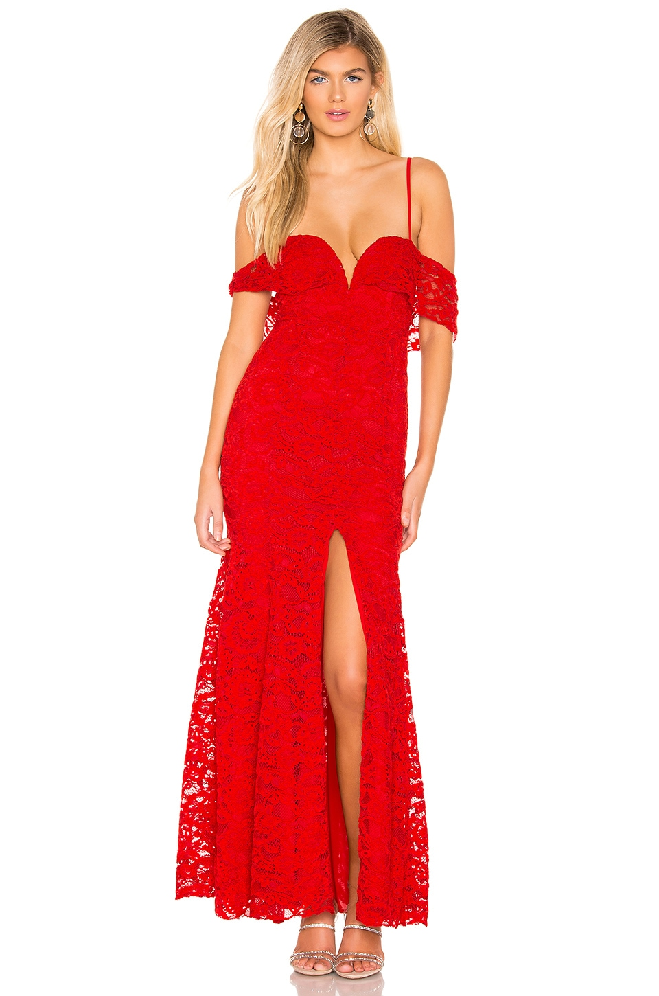 MAJORELLE Angelique Gown in Racing Red