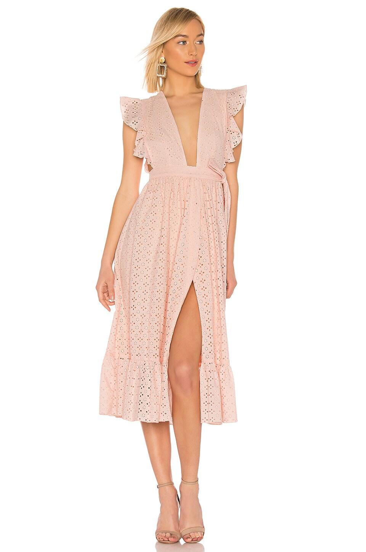 MAJORELLE Mistwood Dress in Ballet Pink