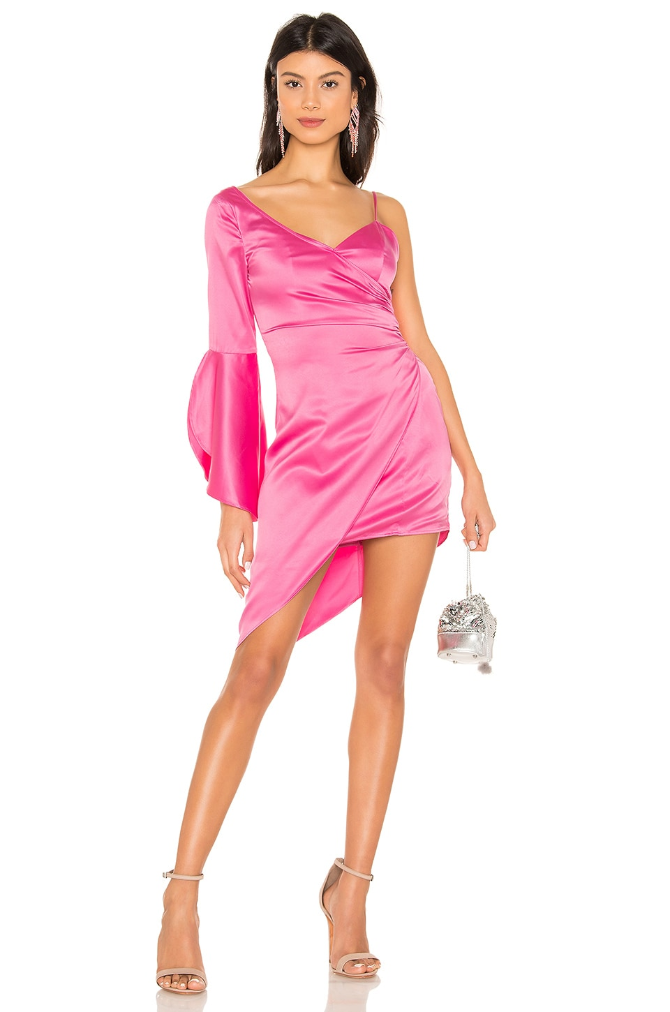 MAJORELLE Georgina Mini Dress in Bubblegum Pink