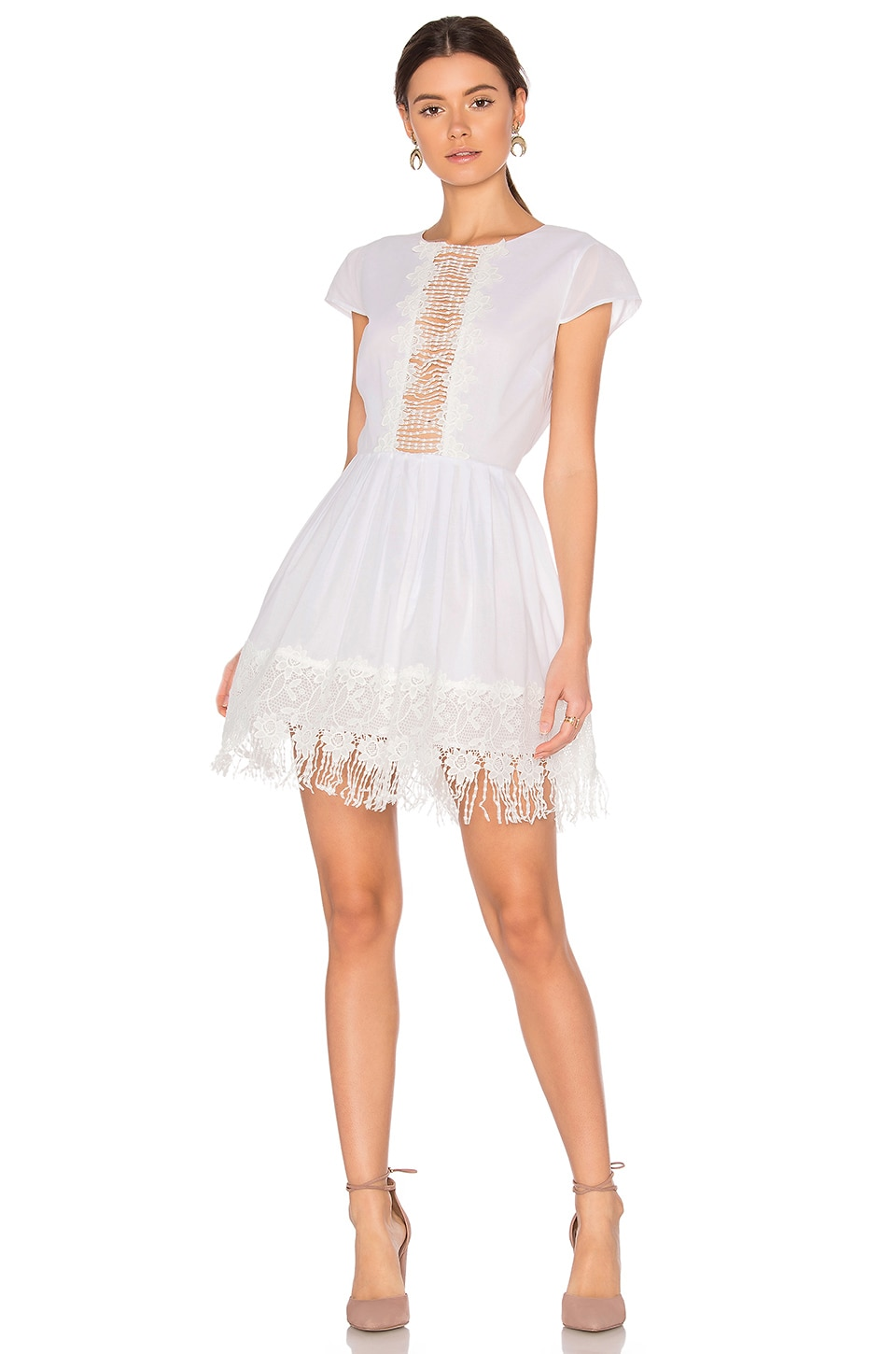MAJORELLE Liberty Dress in Ivory