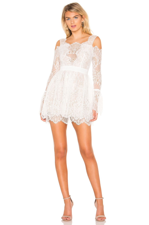 MAJORELLE Courtney Dress in White