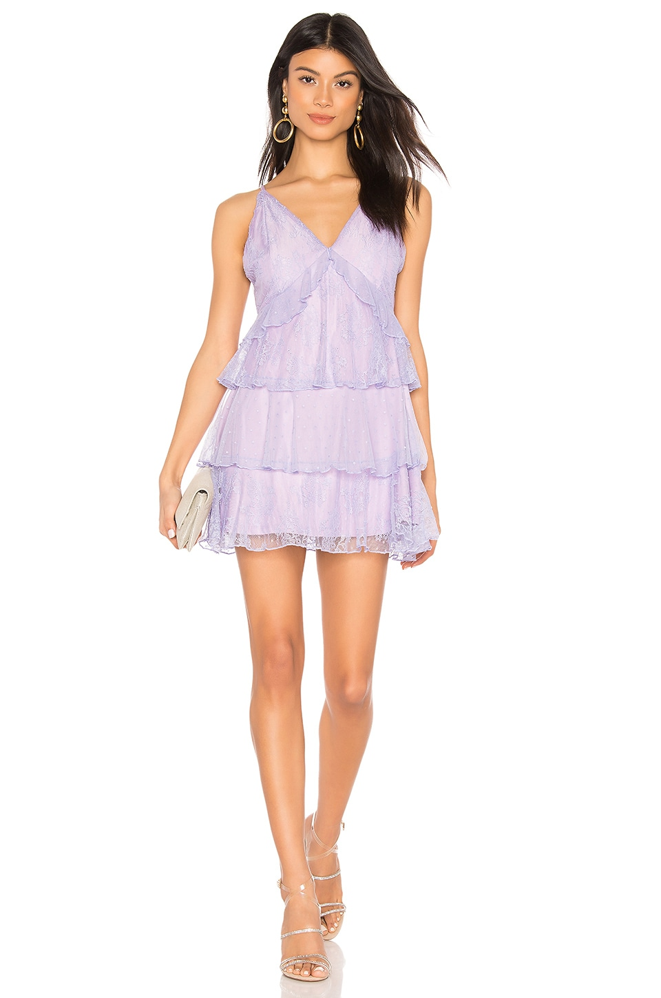 MAJORELLE Nylah Mini Dress in Amethyst Purple