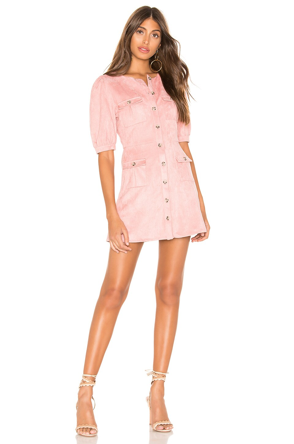 MAJORELLE Bennett Mini Dress in Pink Mauve