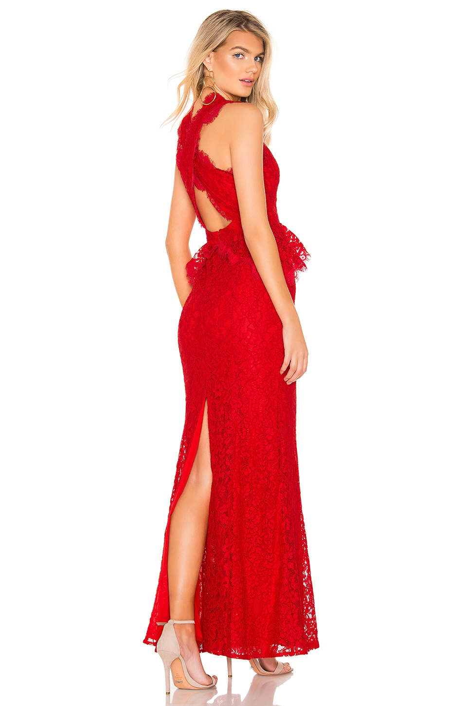 MAJORELLE Elizabeth Gown in Red