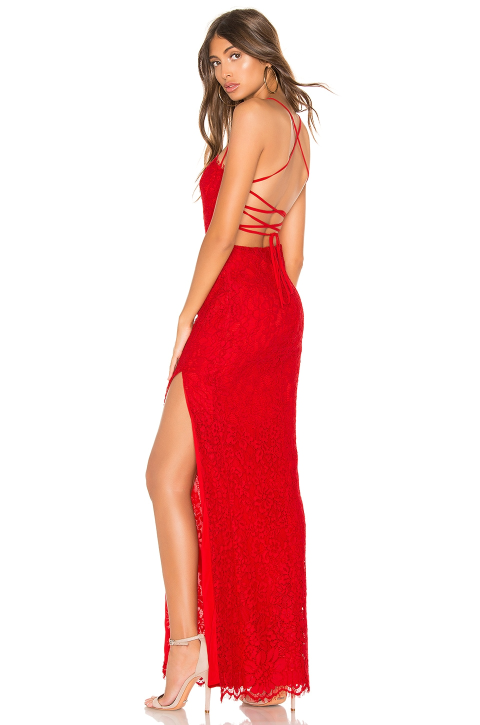 MAJORELLE Tavi Gown in Red