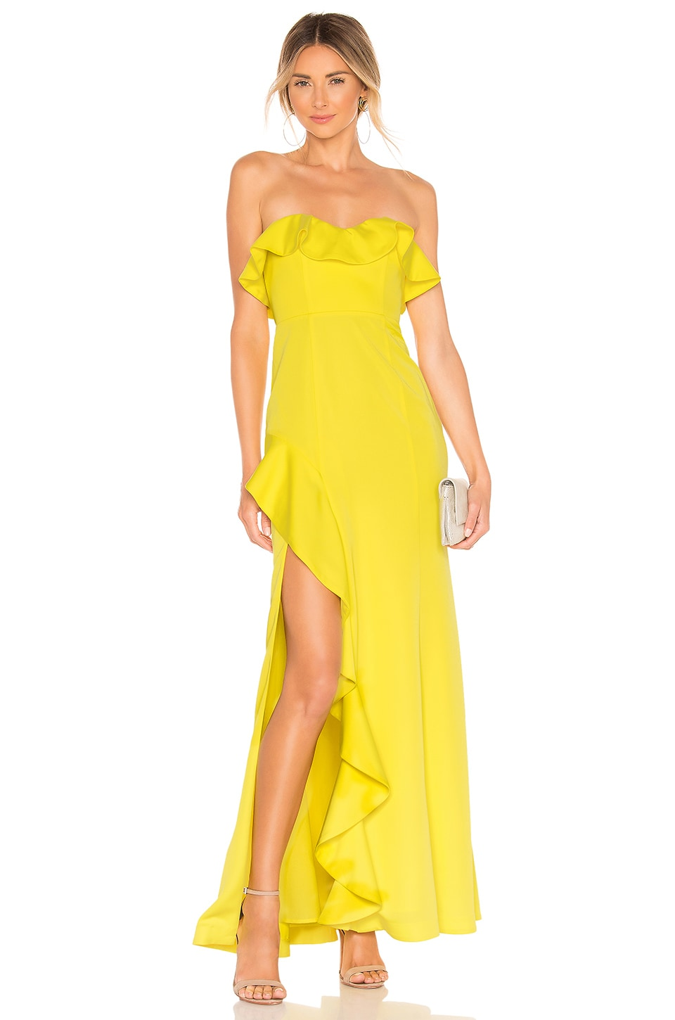 MAJORELLE Redfield Gown in Yellow
