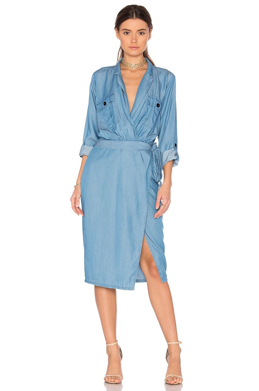 MAJORELLE Yuma Dress in Light Wash