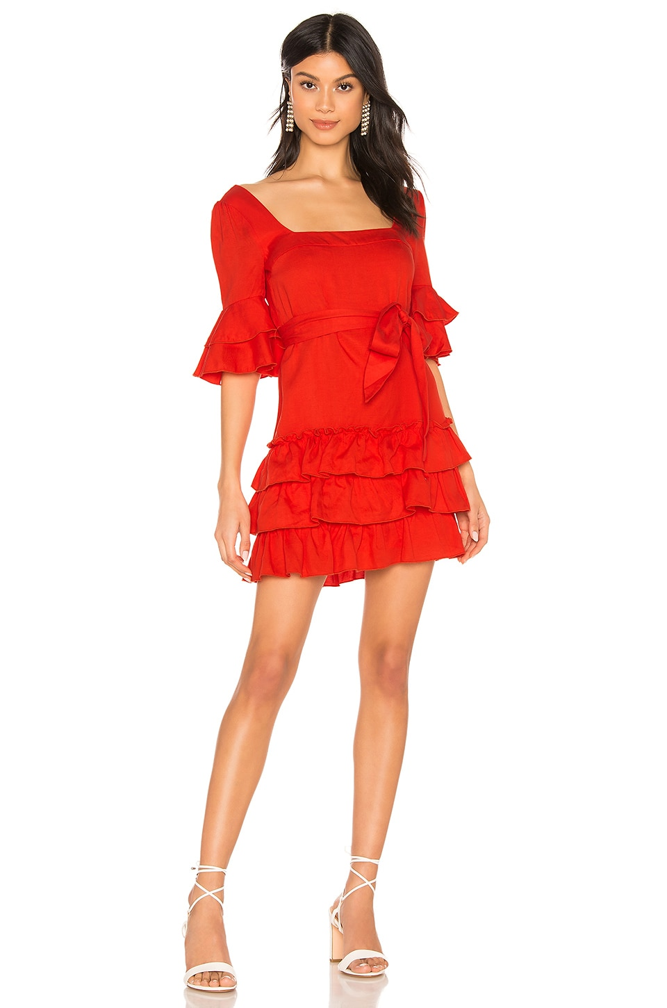 MAJORELLE Olin Dress in Red
