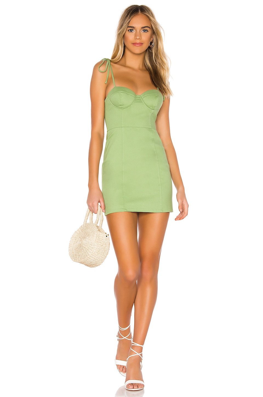 MAJORELLE Kami Dress in Green