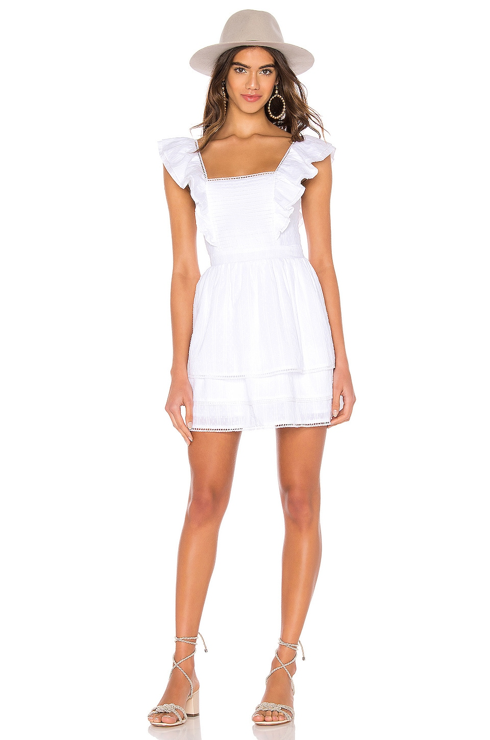 MAJORELLE Bungalow Dress in White