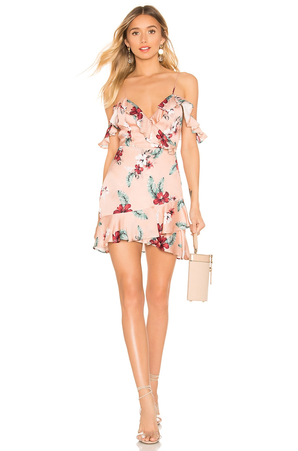 MAJORELLE Salsa Dress in Pink Tropical