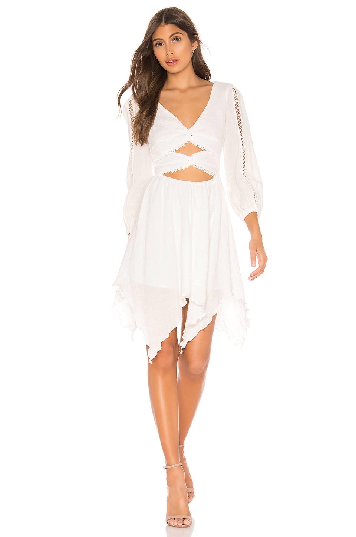 MAJORELLE Cambria Mini Dress in Ivory