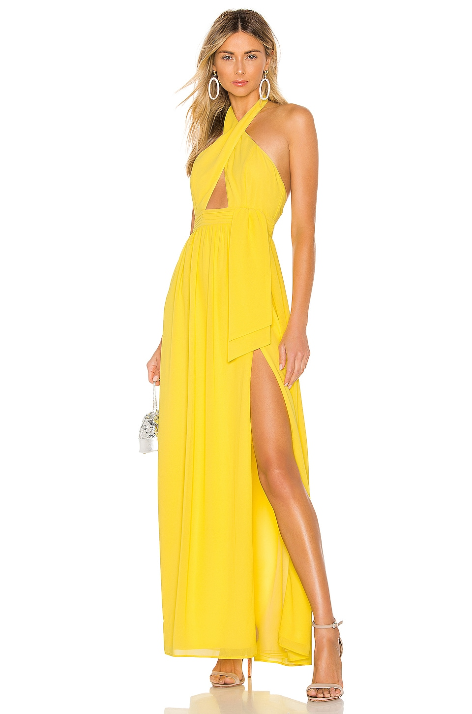MAJORELLE Andromeda Gown in Yellow