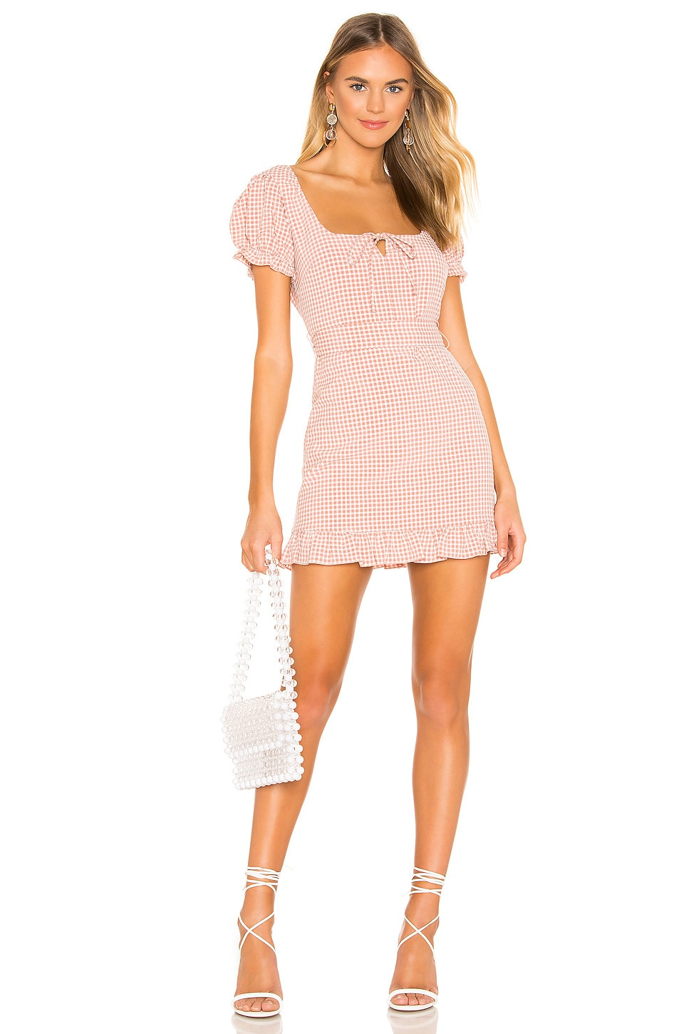 MAJORELLE Short N Sweet Dress in Pink Plaid