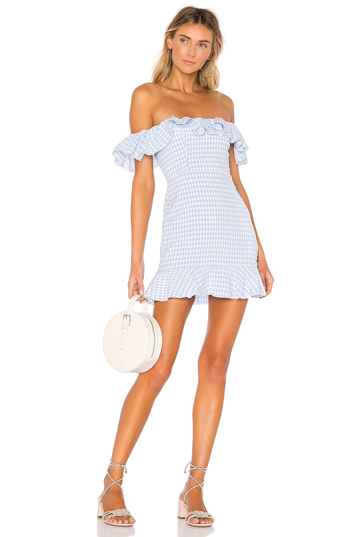 MAJORELLE Daze Away Dress in Blue Plaid