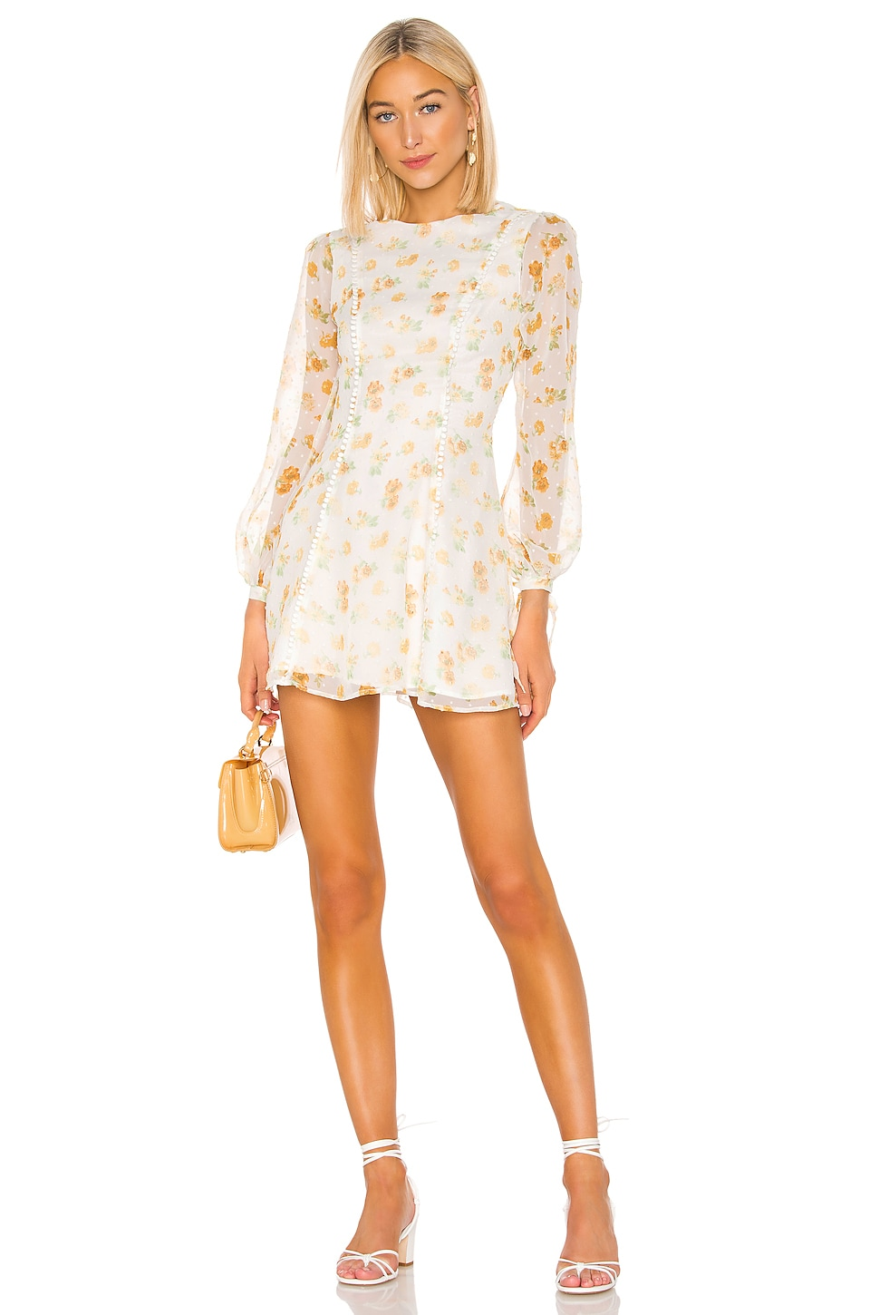 MAJORELLE Aspen Mini Dress in Misty Yellow