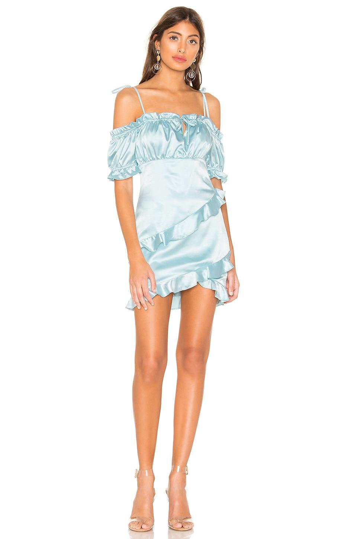 MAJORELLE Desiree Mini Dress in Baby Blue