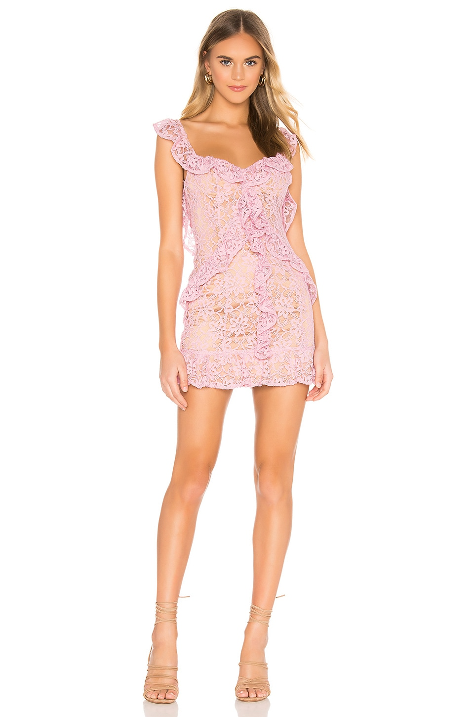 MAJORELLE Ashton Mini Dress in Candy Pink