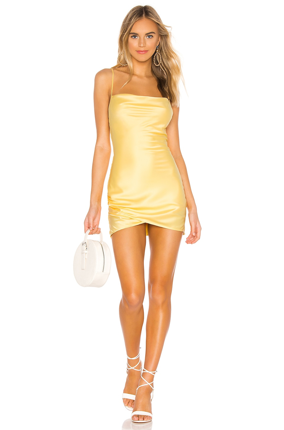 MAJORELLE Laurena Mini Dress in Butter Yellow