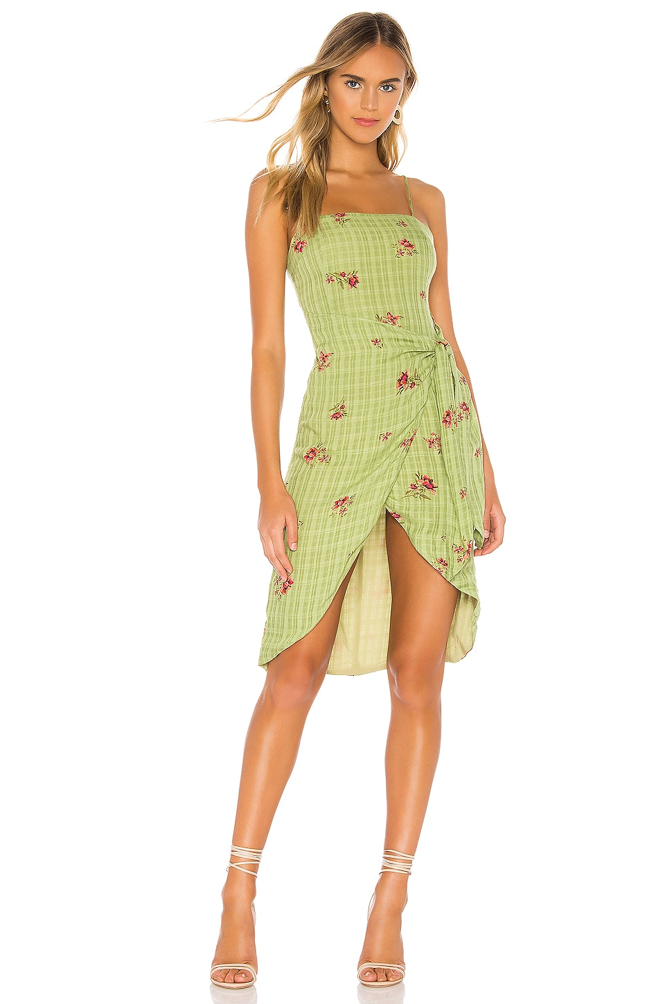 MAJORELLE Anna Dress in Green Picnic