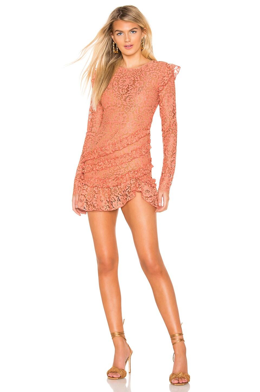 MAJORELLE Lee Dress in Golden Coral
