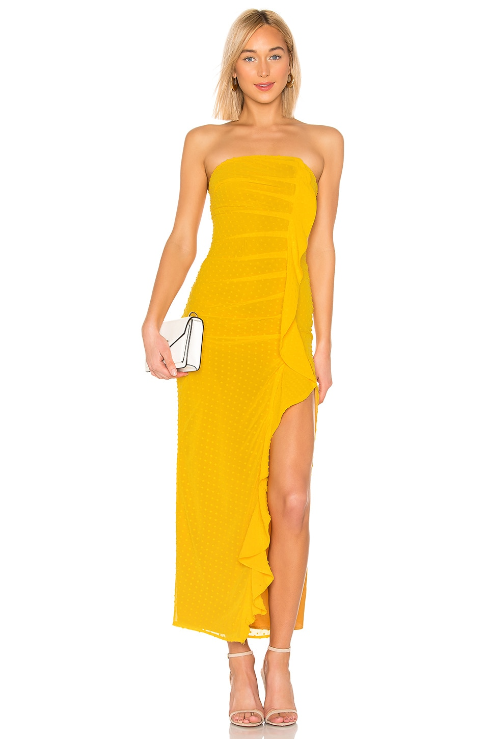 MAJORELLE Dianna Maxi Dress in Sunshine Yellow