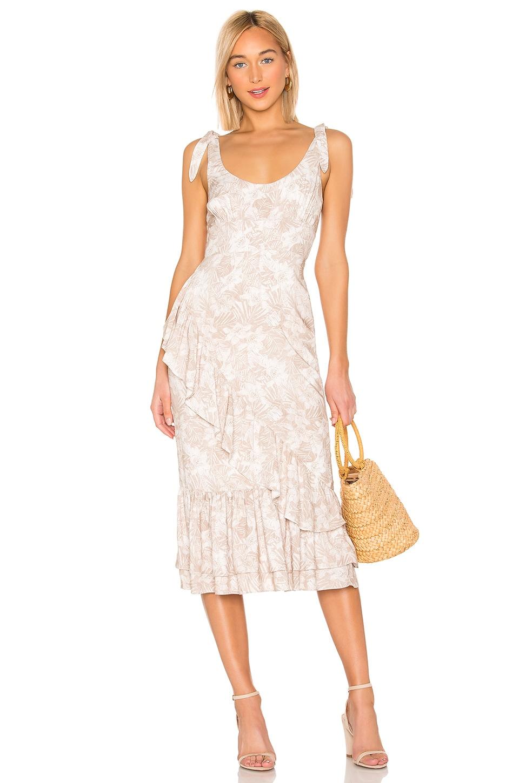 MAJORELLE Nikita Dress in Tropical Tan