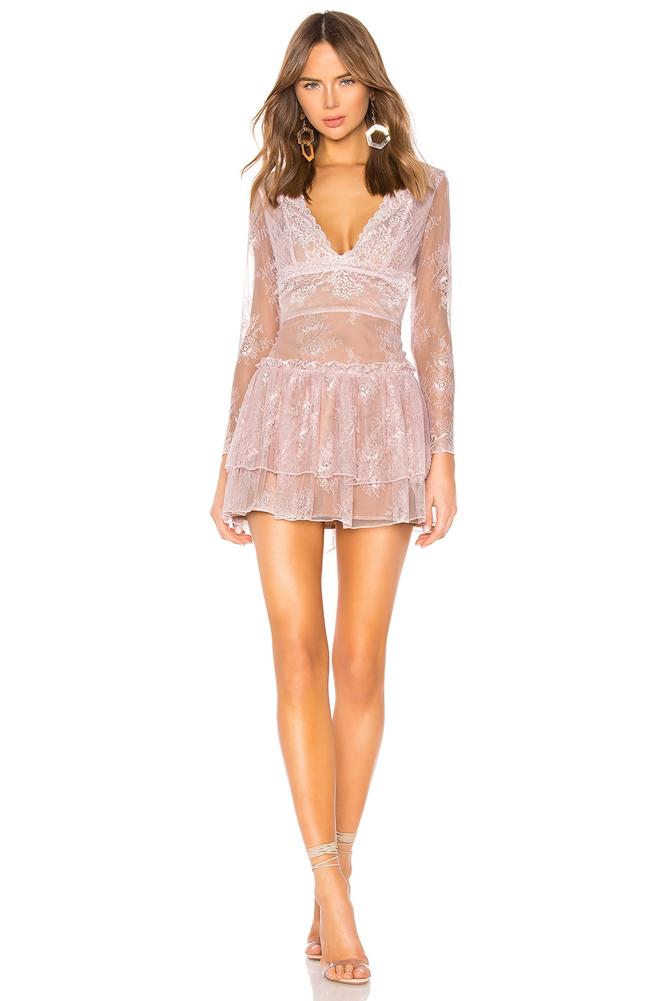 MAJORELLE Giza Mini Dress in Blush Pink
